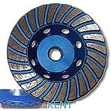"KENT Premium 4 inch Grit 30~40 Turbo Cup Diamond Grinding Wheel, 5/8""-11 Arbor"
