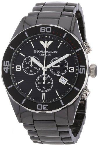 Emporio Armani Men's AR1421 Ceramic Black Chrnongraph Dial Watch