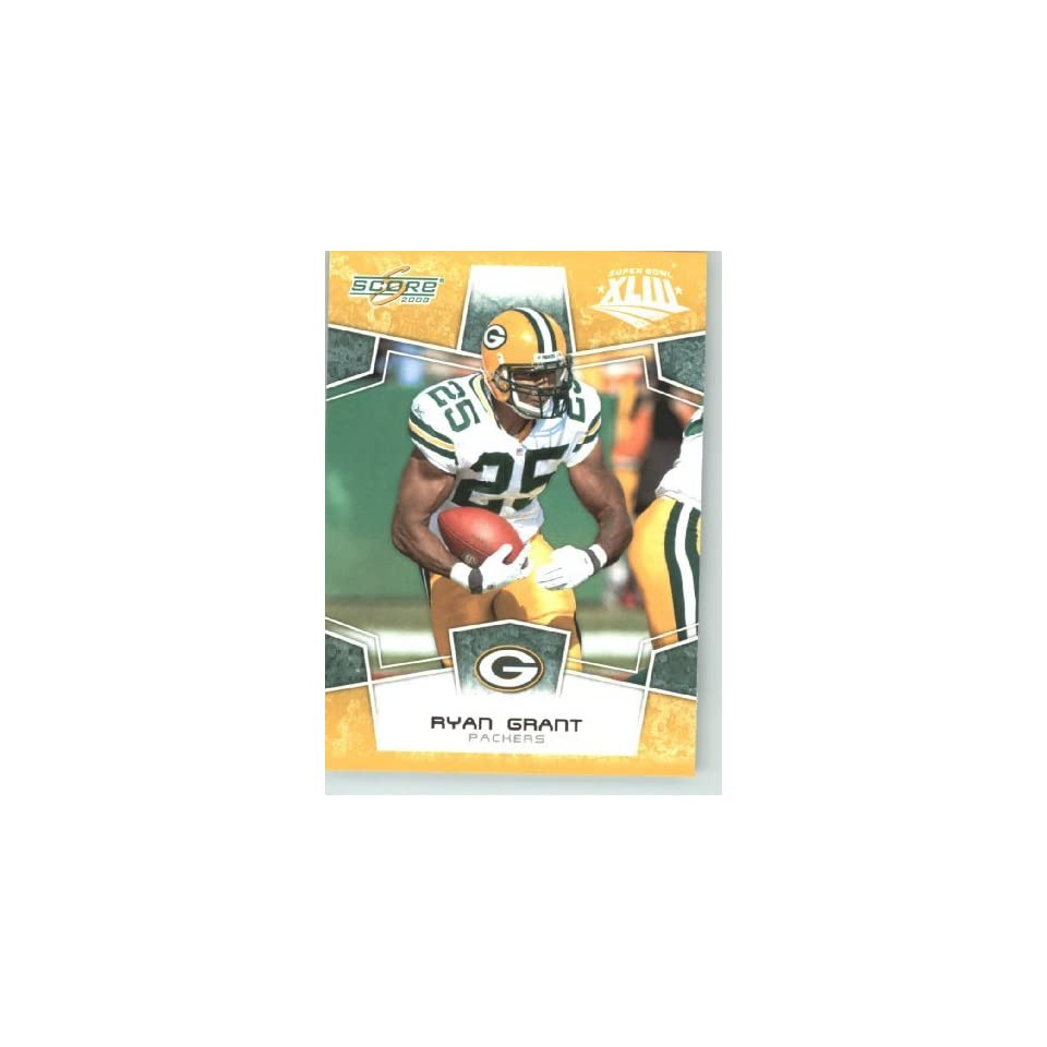 2008 Donruss / Score Limited Edition Super Bowl XLIII Gold Border # 107 Ryan Grant   Green Bay Packers   NFL Trading Card in a Prorective Screw Down Display Case