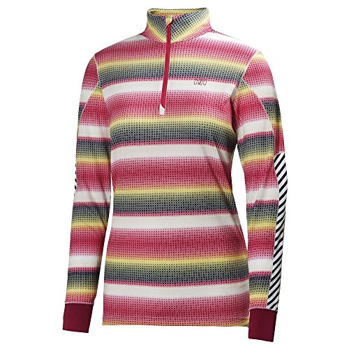 Helly Hansen 2014/15 Women's HH Active Flow Graphic 1/2 Zip Long Sleeve Shirt - 48464 (Magenta/Multisquare - XS)