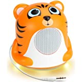 GOgroove Tiger Pal Portable High-Powered 3.5mm Mini Speaker System with Glowing LED Base - Works With Smartphones , Laptops , Tablets , MP3 Players & More!