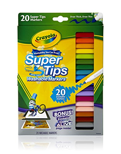 Crayola 20 Super Tips Washable Markers