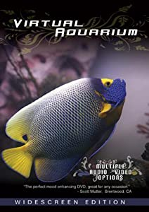 Aquarium Widescreen DVD - Coral Reef, Saltwater and Freshwater Fish Tank Virtual Experience