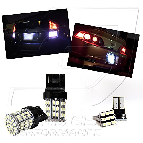 Tgp T20 White 64 Led Smd Wedge Reverse / Backup Light Bulbs And License Plate Led Pair 2007-2013 Cadillac Escalade