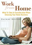 Work From Home: What To Take In Consideration When Choosing Your Home Business
