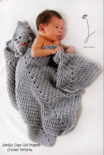 Tinman toy lovie blankie afghan crochet pattern