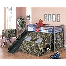 Camouflage Tent Bunk Bed - Coaster 7470