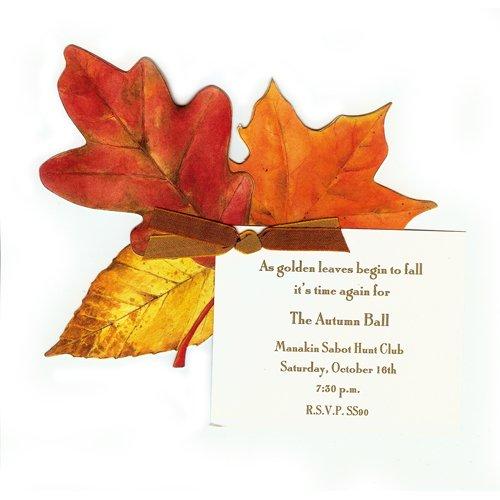 Fall Leaves Die-Cut Card, Pack Of 10 front-953519