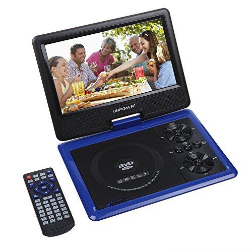 "Big Save! DBPOWER 9.5"" Portable DVD Player, 2 Hours Rechargeable Battery, Swivel Screen, Suppor..."