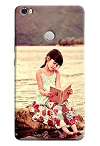 Omnam Cute Girl Sitting And Reading Book Printed Designer Back Cover Case For Xiaomi Mi Max