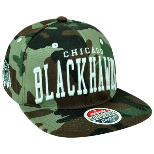 NHL Chicago Blackhawks Super Star Snapback Cap, Camo/Army Green at Amazon.com
