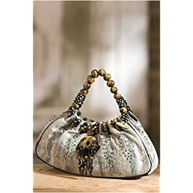 Women's Tiger Eye Mary Frances Handbag