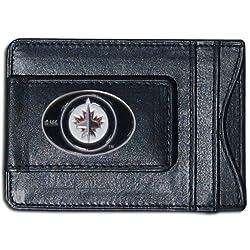 NHL Winnipeg Jets Genuine Leather Cash and Cardholder