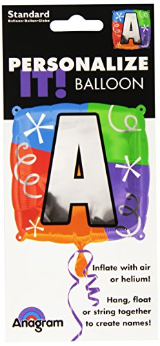 "Anagram International Letter a Quad Package Balloon, 18"", NA"