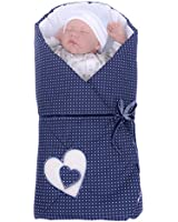 Sevira Kids - Gigoteuse d'emmaillotage Multi-Usage en 100% coton - Nid d'ange naissance Hearts