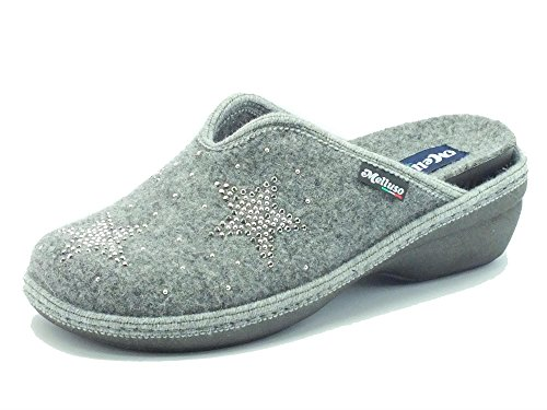 Pantofole Melluso in tessuto grigio sottopiede estaribile (Taglia 40)