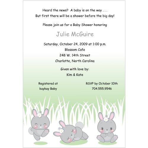 Honey Bunnies Baby Shower Invitations - Set Of 20 front-1012450