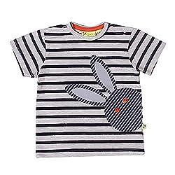 Buzzy Baby-Boys' Cotton T-Shirt (Grey,3-6M)