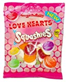 Swizzels Matlow Love Hearts Squashiess x3 Bags (160g Each)