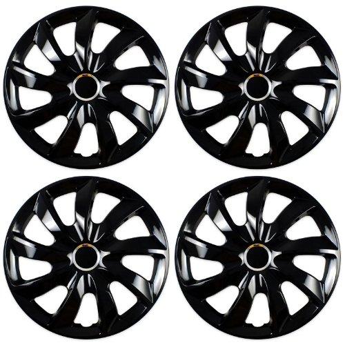 Radkappen STICK schwarz 15 Zoll passend für Fiat 500, Bravo, Brava, Doblo, Grande Punto, Evo, Idea, Linea