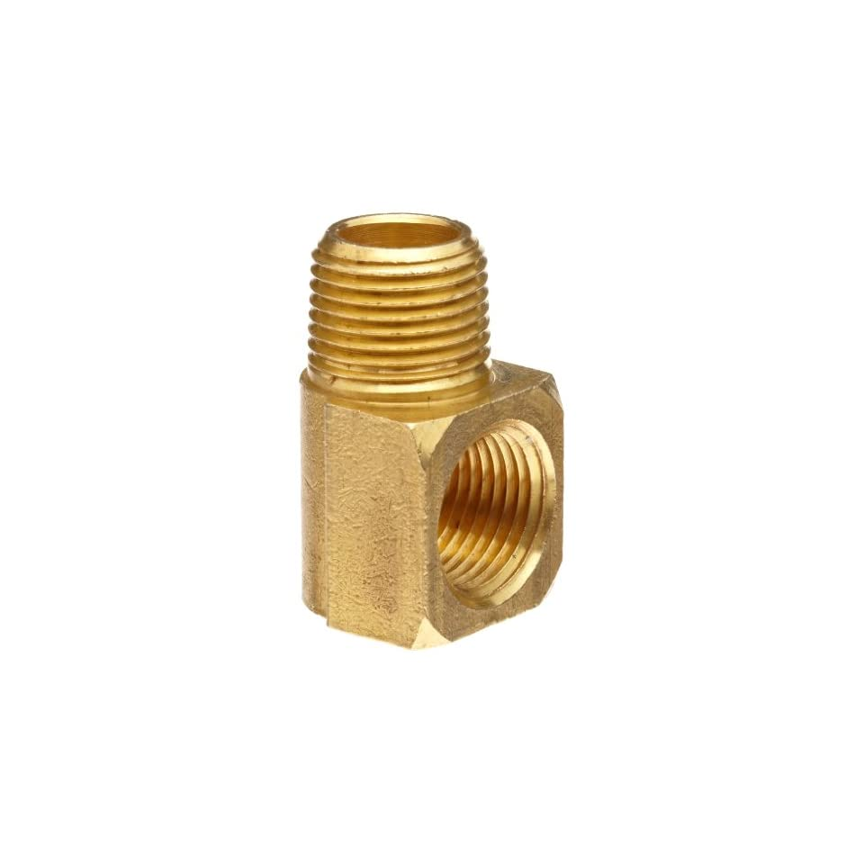 Anderson Metals Brass Pipe Fitting, 90 Degree Barstock Street Elbow, 3