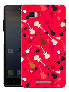 "Guitars Music Love Printed Designer Mobile Back Cover For ""Lenovo Vibe P1"" By Humor Gang (3D, Matte Finish, Premium Quality, Protective Snap On Slim Hard Phone Case, Multi Color)"