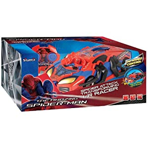 Amazing Spider-man Infrared Remote Control Spider Attack Transforming I/r Racer Vehicle