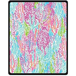 Fashion press Creative Blanket Lilly Pulitzer Blanket 40x50 Inch Fleece Blanket Sheet Throw Bedding Blanket Fleece Throw Blanket Baby Blanket Travel Blanket Indoor / Outdoor