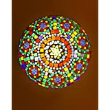Somil Round Fancy Ceiling Lamp Light Colourfull & Decorative With Colour Full Chips And Beads