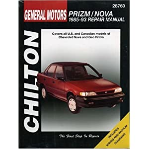 and Nova, 1985-93 (Chilton's Total Car Care Repair Manual) Chilton