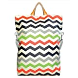 Foldover Graphic Tote Bag