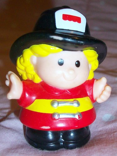 Buy Low Price Mattel Fisher Price Little People Fire Fighter Sarah Lynn Replacement Figure Doll Toy (B0021QC8QU)