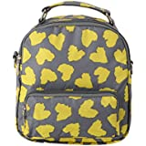 Foldable New Style Travel Diaper Bag 3 Carrying Ways Backpack Shoulder Bag Tote Bag (MINI FOR BABY, LOVE YELLOW)