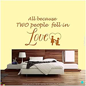 DeStudio In Love Wall Decal, Size XXL & Color BROWN