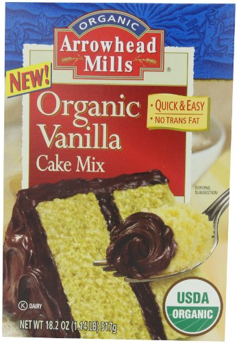 Arrowhead Mills Vanilla Cake Mix Organic, 18.2 Ounce Boxes (Pack of 6)