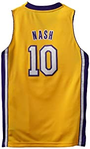 NBA Los Angeles Lakers Steve Nash Youth 8-20 Swingman Home Jersey by adidas