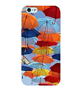 Colourful Umbrellas 3D Hard Polycarbonate Designer Back Case Cover for Apple iPhone 6S