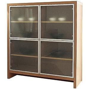 Madia soggiorno 4ante vetro mobile soggiorno ciliegio for Mobile soggiorno vetro