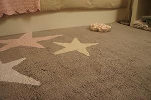 lorena canals c te gr dreifarbige sterne grau pink baby. Black Bedroom Furniture Sets. Home Design Ideas