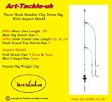 The Art-Tackle 3 Hook Clip Down Bomber Rig With Impact Shield