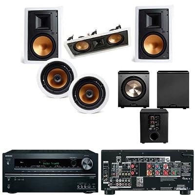 Klipsch R-3650-WII In Wall System #2 (R-5502-WII) FREE PL-200-Onkyo TX-NR626 7.2 from Klipsch