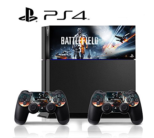 PS4-Battlefield-3-VINYL-SKIN-STICKER-DECAL-COVER-for-PS4-Playstation-4-System-Console-and-Controllers