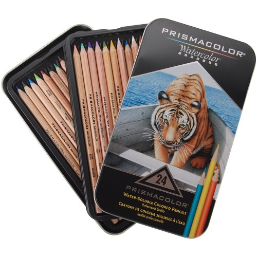 Sanford Prismacolor Watercolor Pencil Set, 24-Pack