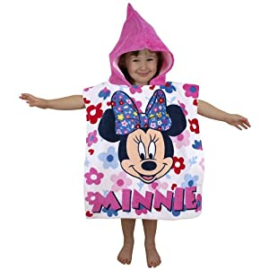 Childrens Minnie Mouse Hooded Poncho/Towel~NEW DESIGN