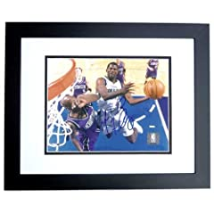 Michael Finley Autographed Hand Signed Dallas Mavericks 8x10 Photo - BLACK CUSTOM... by Real Deal Memorabilia