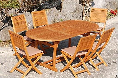 Tavolo ovale in legno Eucalypto mod California giardino 180240x100 cm noce
