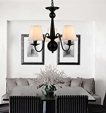 CRF Chinese Style Antique Iron Chandelier Living Room Lamps