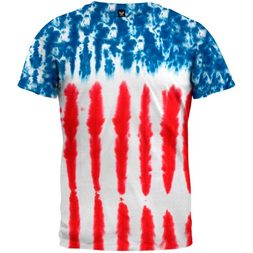 Old Glory - Baby-Boys Patriotic Tie Dye Toddler T-Shirt 2T Multi front-1037183