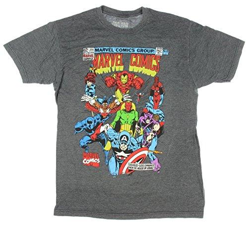 Marvel Comics Super Squad Vintage Cover Graphic T-Shirt