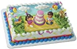 1/2 Sheet Dora and Friends Time for Aventura Edible Icing Image Cake Decoration Topper